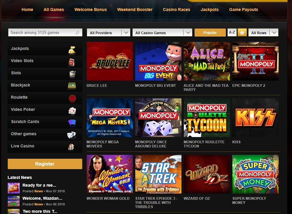 Видеослотс казино